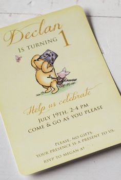 For Declan's Hundred Acre Wood first birthday, I went with a Classic Winnie the Pooh theme.