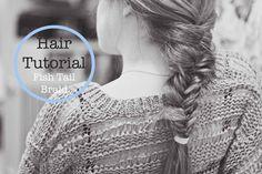 Fish braid hair tutorial!