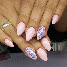 Delikatny Rose Quartz by Monika Cis Indigo Young Team #nails #nail #indigo #rose…