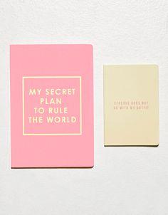 'My secret plan' notebook set - Accessories - Bershka Ukraine | @giftryapp