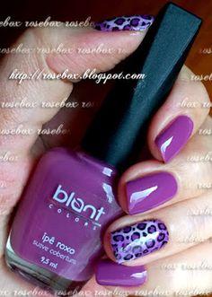 esmalte Blant ipê roxo + película de oncinha #nailart #unhasdecoradas #peliculadeunhas