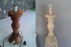 Shabby lamp decoupage  chalk paint