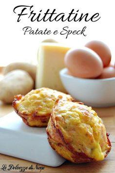 Le frittatine di patate e speck sono delle golose frittate monoporzioni, fatte cuocere al forno nei pirottini dei muffin. Sono golose sia calde che fredde, ottime come antipasto o mangiate come secondo