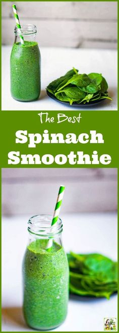How to Make the Best Spinach Smoothie Recipes. Click to get this easy to make spinach, coconut water, Greek yogurt, and banana healthy fruit smoothie recipe. Comes with a dairy free option. via /amnichols/
