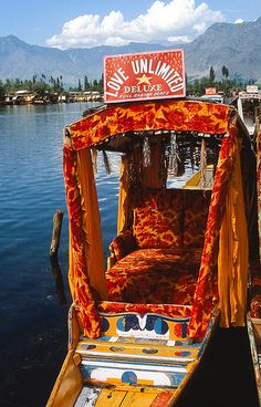Love Unlimited Deluxe by iPhotograph, via Flickr    A Shikara is a boat similar to the venetian gondolas. Shikaras are used on the dal lake in Sringar, the summer capital of the northern most Indian state of Jammu & Kashmir.