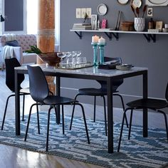 Box Frame Dining Table - Marble West Elm