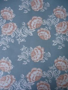 Tecido Adesivo - Floral Azul Claro e Rosa Claro