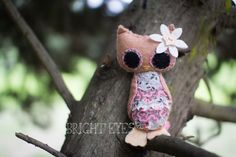 Little Miss Plush Owl by Brighteyesshop on Etsy Bright Eyes, Little Miss, Owl, Plush, Trending Outfits, Unique Jewelry, Handmade Gifts, Etsy, Vintage