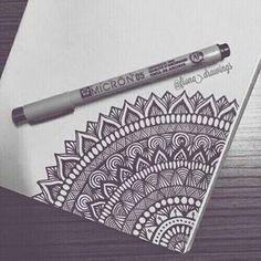 Doodle art – Drawings – Mandala drawing – Art drawings – Zentangle art – Doodle drawings – 40 – Art World 20 Mandala Doodle, Doodle Art Drawing, Mandalas Drawing, Zentangle Drawings, Drawing Ideas, Easy Mandala Drawing, Mandala Sketch, Mandala Tattoo, Doodle Doodle