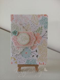 StampIN-K. notebook covered using stampin up DSP and stampin up Dollie