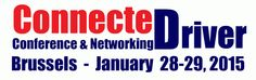 ConnecteDriver is a conference, networking and exhibition event taking place in Brussels, Belgium on January 28-29, 2015