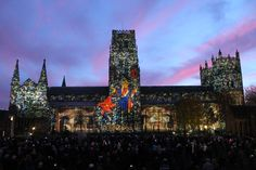 3D video mapping at Durham by the Projection Studio