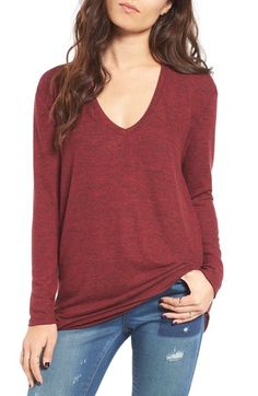 BP. V-Neck Long Sleeve Sweater available at #Nordstrom
