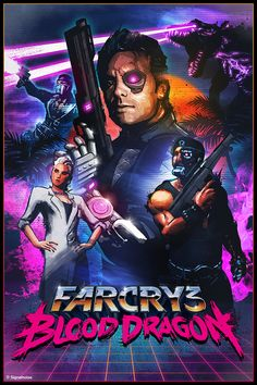 Far Cry 3: Blood Dragon by James White, via Behance