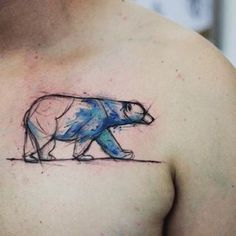 This beautiful bear. | 23 Tattoos For People Who Just Fucking Love Animals