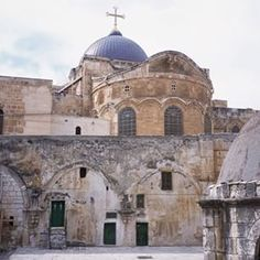 The Church of the Holy Sepulchre is the holiest site in Jerusalem, and of all Christianity. Located within the church is the Tomb of Christ, with steps leading up to Golgotha (Calvary) where Christ was crucified.