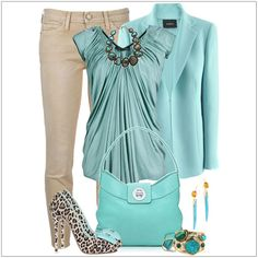 CHATA'S DAILY TIP: Icy blue shades tone perfectly with neutral jeans, ideal for a Soft skin tone. For Medium, Deep and Rich skin tones, select a brighter / more intense shade of blue. Shoes in a funky animal print (be it a low or high heel) add a fun factor to this stylish ensemble. COPY CREDIT: Chata Romano Image Consultant, Marlise du Plessis http://chataromano.com/consultant/marlise-duplessis/ IMAGE CREDIT: Pinterest #chataromano #imageconsultant #colour #style #fashion