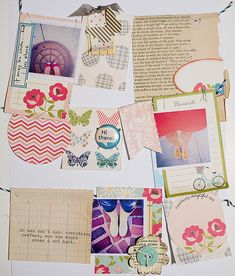 Becky Novacek was inspired by one of Marcy's pins when creating this layout