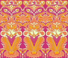 flourish fabric by scrummy on Spoonflower - custom fabric