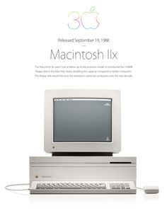 The Apple Macintosh IIx, 1988. Quite a neat design. In those days I was a die-hard Commodore Amiga aficionado.