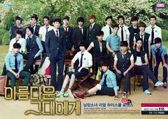 To The Beautiful You (2012) I predict that from 9th episode onward, the series will be pretty much of a cliched K-drama: getting boring and tiresome. one day, korean dramas, kdrama, schools, beauti, posters, fields, hana kimi, asian drama
