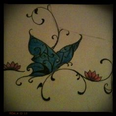 Other part to a custom tattoo drawn for family member. Can anyone read the name in this pic? #tattoos #art