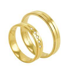 Par de Alianças em Ouro 18K com Diamantes - AU2585   Bruna Tessaro Joias -  brunatessaro 9e65d8159a