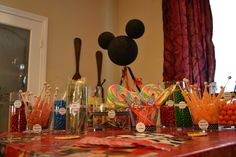 the twins 1st birthday party mickey mouse candy bar