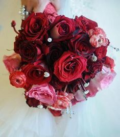 Classic red rose bouquet