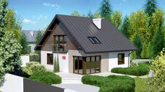 DOM.PL™ - Projekt domu Dom przy Cyprysowej 7 CE - DOM EB3-15 - gotowy koszt budowy Minimal House Design, Minimal Home, Design Case, Home Fashion, Small Spaces, Minimalism, Shed, Outdoor Structures, House Styles