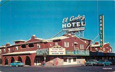 A vintage divided postcard of--- 1950s El Cortez Hotel LAS VEGAS NEVADA…