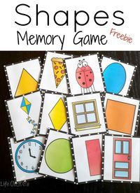A fun free memory game for practicing shapes and seeing 'real-life' examples of shapes.