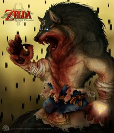 DFA's-TLoZ- Blue-eyed Beast by LycanthropeHeart. If THIS was real everybody would either be dead or a werewolf.
