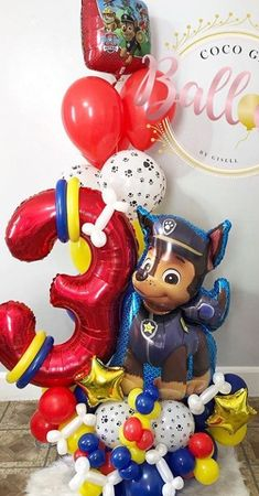 Paw Patrol Birthday Decorations, Paw Patrol Birthday Cake, Balloon Crafts, Balloon Decorations Party, Paw Patrol Balloons, Balloon Bouquet Delivery, Birthday Themes For Boys, Balloon Arrangements, Custom Balloons