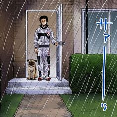 """""""いいかアポ 人間ってのはな """"天候""""には勝てない生き物なんだよ""""ー南波六太(宇宙兄弟6巻) #急な雨 #雷 #大粒の雨 #雷雨 #みなさん #大丈夫でしたか? #APO印の傘 #大活躍の夜 #宇宙兄弟 #spacebrothers #小山宙哉 #宇宙兄弟名言シリーズ #ムッタ #アポ #APO"""