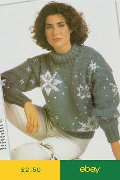 Tejer patrón de Lady/'s Fab Aran Renos Navidad Suéter 120