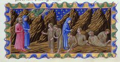 The Envious - Dante Alighieri TitleDivina Commedia OriginItaly, N. (Tuscany, Siena?) Datebetween 1444 and c. 1450 LanguageItalian    http://www.bl.uk/catalogues/illuminatedmanuscripts/record.asp?MSID=6468&CollID=58&NStart=36