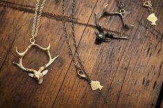 Metal Deer necklaces