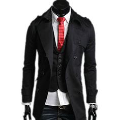 2017 New Korean Men Paul Jones Casacos De Inverno Feminino Couro Men Stylish Slim Double Breasted Coat Outerwear Plus Size 5576D
