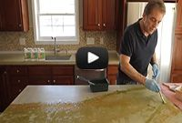 How to Make Concrete Countertops | DIY Concrete Countertop Instructional Videos - how to stain the tops