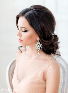 Featured: Elstile; Classy updo wedding hairstyle idea;