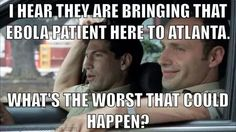 How it really started..walking dead, ebola. Those patients got cured but now there is a patient in Texas. So scary!