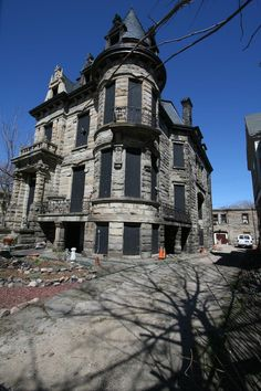 Franklin Castle (also known as the Hannes Tiedemann House) is a historical house located at 4308 Franklin Boulevard in Cleveland's Ohio City neighborhood. The building has four stories and more than twenty rooms. It is purported to be the most haunted house in Ohio.