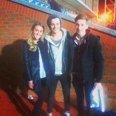 Louis with fans in Blackburn