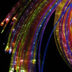 UV Fiber Optic Sensory Lighting Kit - A must for your multisensory environment. Interacting with UV lighting can awaken even the most withdrawn individual. Up to 8 different colors of tails are incorporated into one harness.They are durable and highly resistant to stretching or chewing, making them a safer product than the fiberglass versions. The plastic sprays