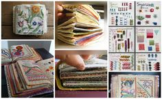 How to make a sample stitch book - this is for straight embroidery but can be made for counted work as well.  A great idea!