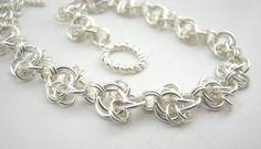 Celtic Lace Chain Maille Bracelet. $ 28.00, via Etsy.