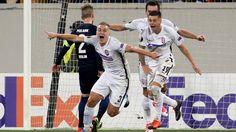 Euro.L. 17/18: Luhansk - Hertha BSC Berlin 2:1 - Oleksandr Svatok bejubelt das 2:1