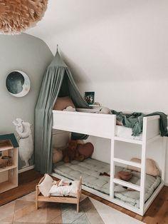 Kids Bedroom Designs, Kids Room Design, Modern Kids Bedroom, Big Girl Rooms, Boy Room, Baby Bedroom, Girls Bedroom, Ikea Kura Bed, Cool Kids Rooms