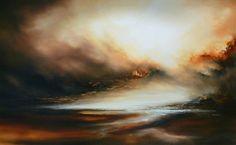 Peinture à l'huile abstraite grande toile par SimonkennysPaintings